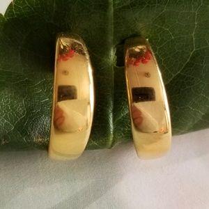 Napier hoop earrings with screw backs gold tone